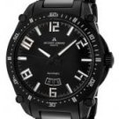 JACQUES LEMANS Men's Geneve Automatic Black Stainless Steel& Black Ceramic