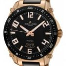 JACQUES LEMANS Men's Geneve Automatic Rose Gold Tone& Black Ceramic