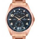 JACQUES LEMANS Men's Geneve Rose Gold Plated
