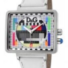 Dolce & Gabbana Women's Medicine Multicolor Dial White Leather