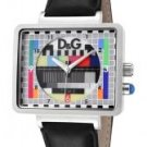 Dolce & Gabbana Women's Medicine Multicolor Dial Black Leather