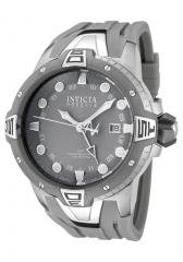Invicta Men's Reserve GMT Light Grey Dial Grey Polyurethane