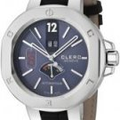 Clerc Men's Icon 8 Automatic Blue Dial Black Genuine Crocodile