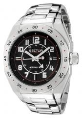 Sector Men's Race GMT Black Dial Stainless Steel