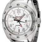 Sector Men's Race GMT White Dial Stainless Steel