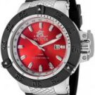 Invicta Men's Subaqua GMT Red Dial Black Polyurethane & Stainless Steel