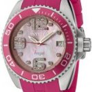 Invicta Women's Angel White Crystal Pink Mother of Pearl Dial Pink Rubber
