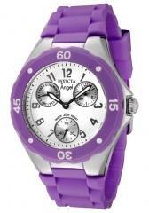 Invicta Women's Angel White Dial Purple Silicone