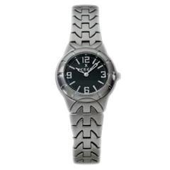 Ebel 9157C11 Ladies Watch Type E Stainless Steel Black