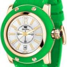Glam Rock Women's Miami Silver Dial Green Silicon