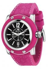 Women's Miami Black Dial Pink Silicon