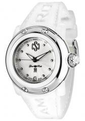 Glam Rock Women's Miss Miami Beach Silver Guilloche Dial White Silicon