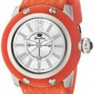 Glam Rock Women's Palm Beach Silver Dial Orange Silicon (S)