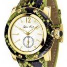Glam Rock Women's Palm Beach White Diamond Green Python
