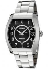 Accutron by Bulova Men's Swiss Made Automatic Black Dial Stainless Steel