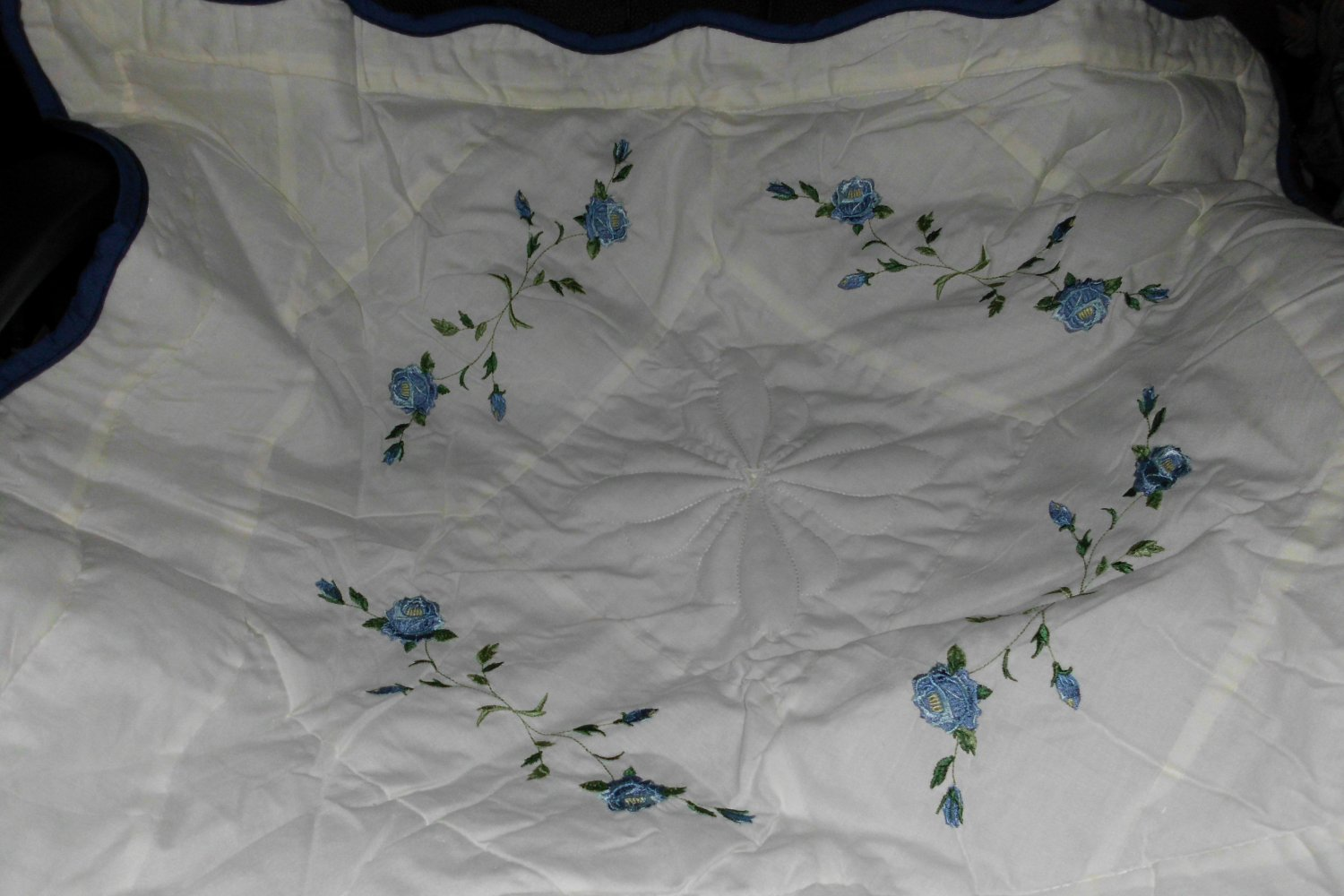 New embroidered Rose Sham Standard