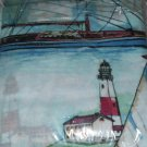Nautical Theme Rod Pocket Curtains W/Tiebacks