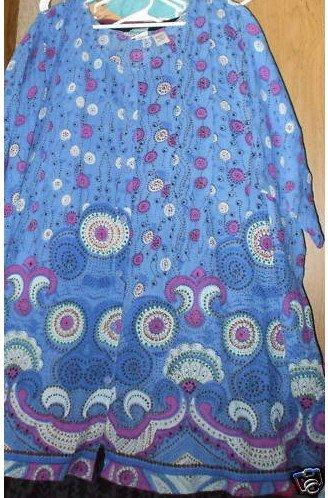 New Womans Cotton Gauze Angelina Tunic 5X