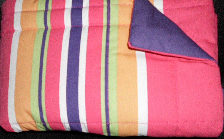 2 New Reversible Pillow Shams Stripe/Solid