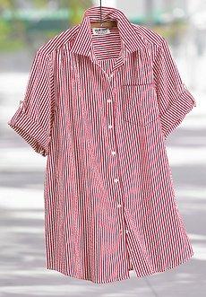 Mainstreet Blues New Seersucker Button Down Shirt 12W