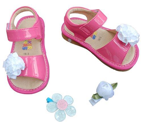 SQUEAKER SNEAKERS Hot Pink Sandals