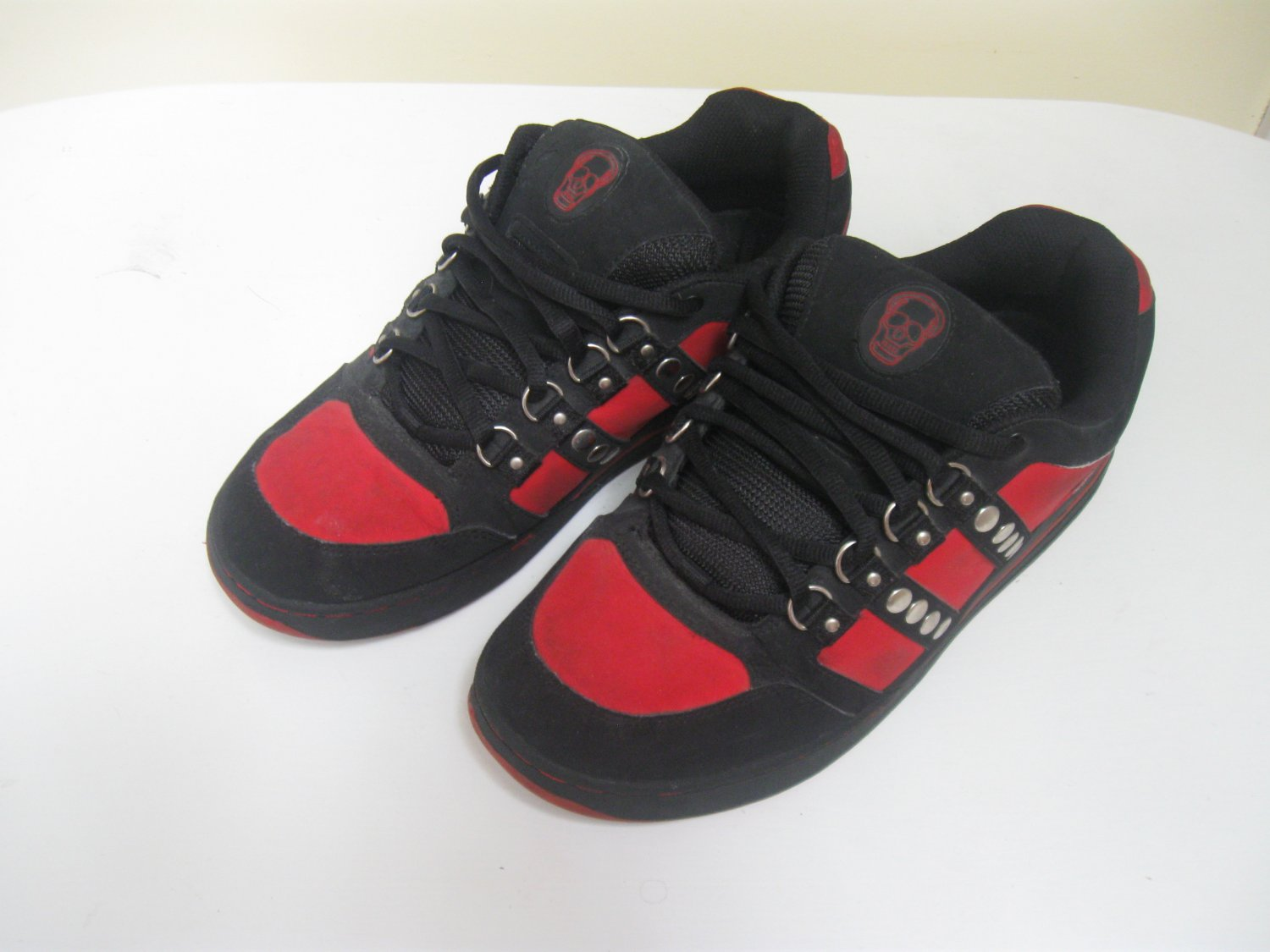 Anarchic Red and Black Skate Shoes- Mens US Size 11