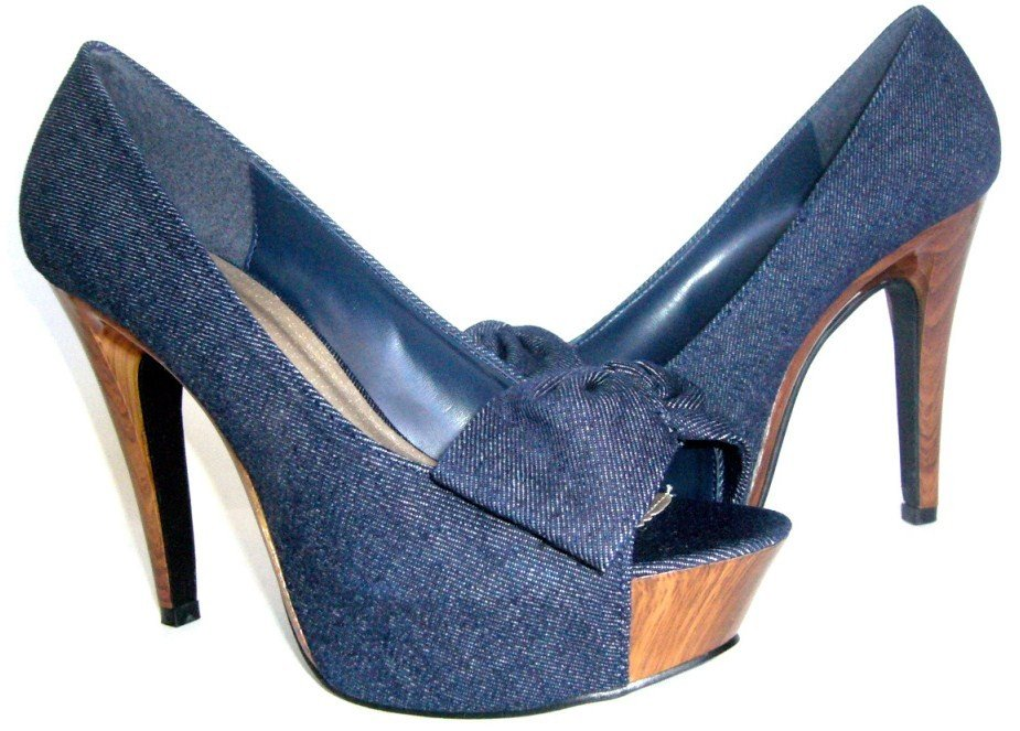 Sexy Blue Denim Heels
