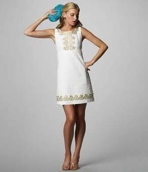 New Lilly Pulitzer Adelson Shift Jacquard Dress White 4