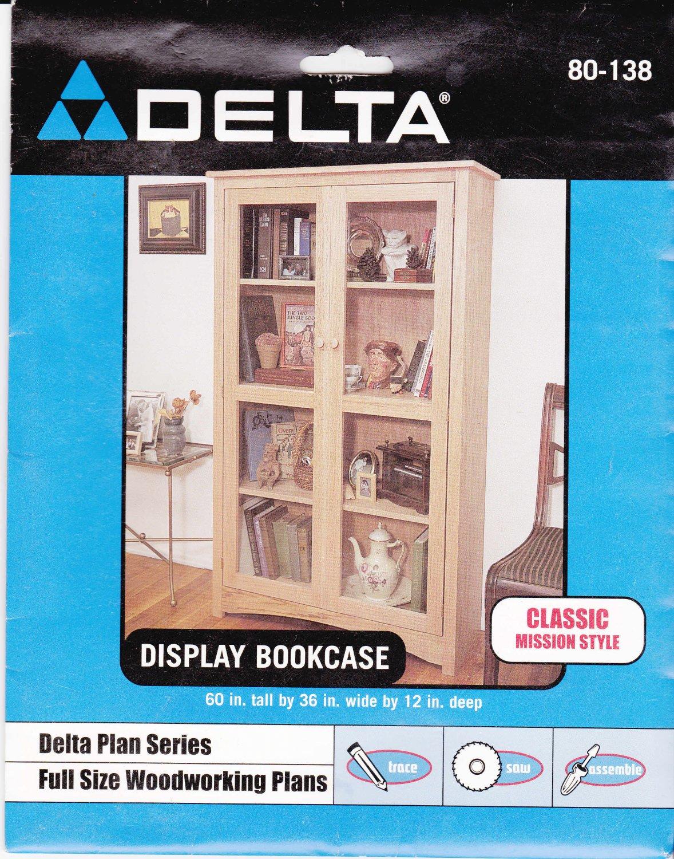 Delta 80-138 Display Bookcase Plans Blue Prints NIP