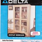 Delta 80-138 Display Bookcase Plans Blue Prints NIP