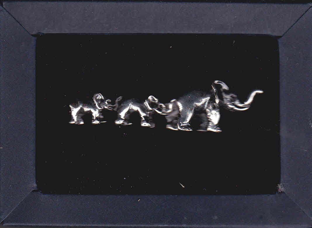 New Forzieri Elephant Tie Clip Clasp Tack Silver Plated