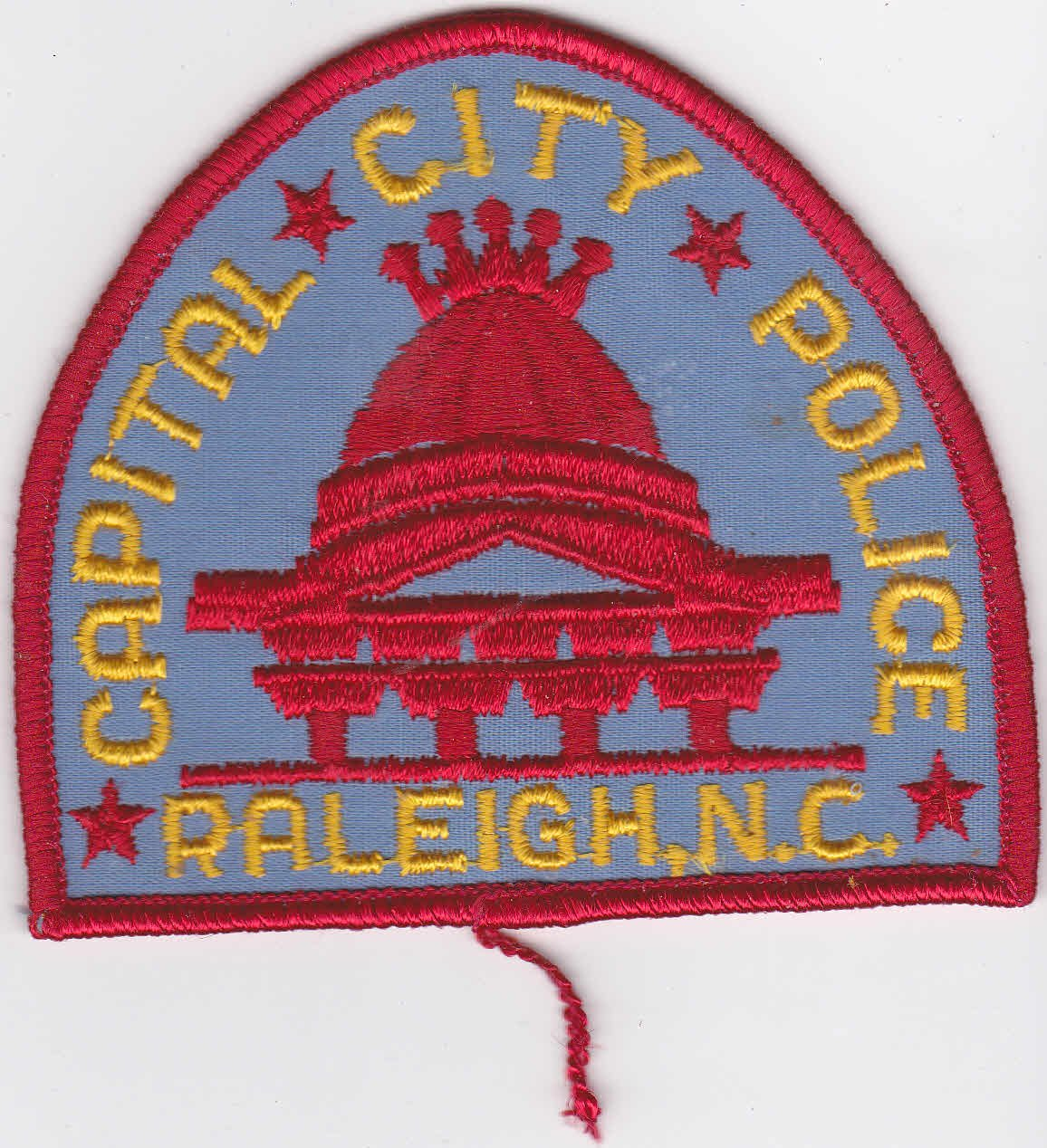 Capital City Police Raleigh NC Shoulder Patch Uniform