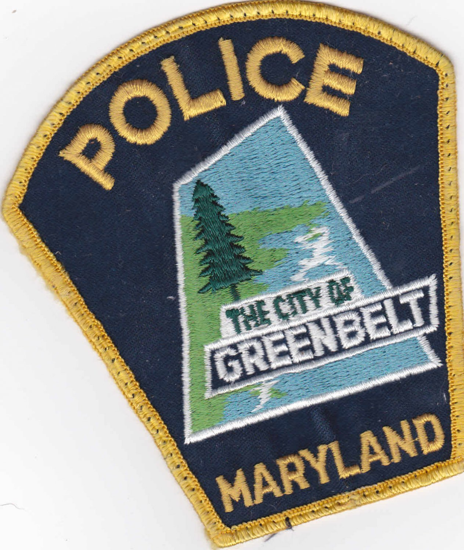 Greenbelt Maryland City Police Shoulder Patch Uniform