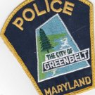 Greenbelt Maryland City Police Shoulder Patch Uniform