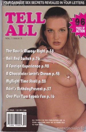 Tell All 2005 Sex Magazine Letters Pornography Secrets