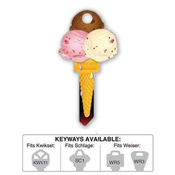 Key Blank: B111K ICE CREAM KWIKSET