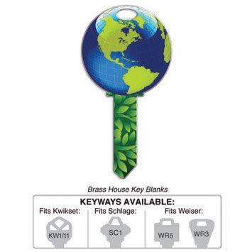 Key Blanks: B127W EARTH KEY SHAPES,WEISER