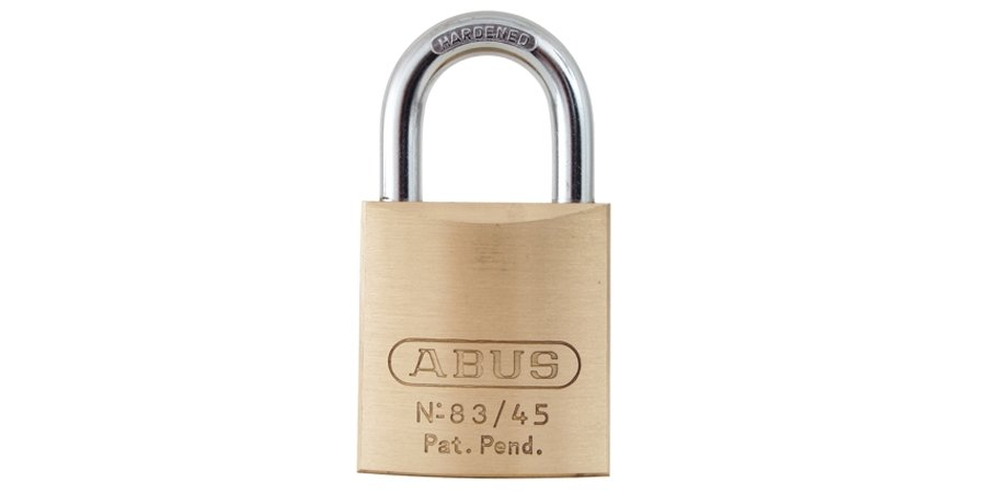 "Padlocks: Abus 83/45-306 S2 83636 1-2/3""BRASS,SCHL C,1""SHACKLE D 6 PINNED 6"
