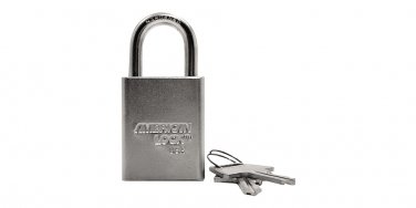 "Padlocks:American Lock A5100D 1-1/2""WIDE,3/4""THICK,1"" SHKL,S CARDED"