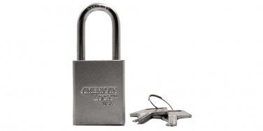 "Padlocks:American Lock A5101 KA 44275 1-1/2""WIDE,3/4""THK,1-1/2""SHKL"