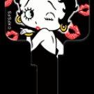 Key Blanks: Key Blank B4 - Betty Boop & Kisses- Schlage