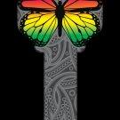Key Blanks: Key Blank HK46 - Rainbow Butterfly - Kwikset