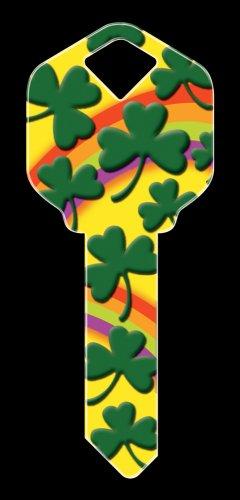 Key Blanks: Key Blank HK20 - Rainbow Clover- Kwikset