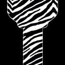 Key Blanks: Key Blank HK24 - Zebra- Kwikset