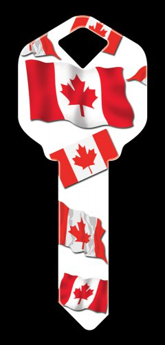 Key Blanks: Key Blank HK28 - Canadian Flag- Weiser