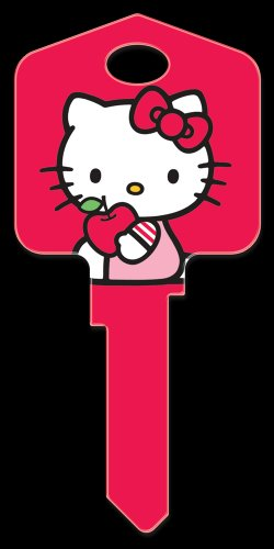 Key Blanks: Key Blank SR3 - Hello Kitty Red- Schlage