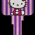 Key Blanks: Key Blank SR10 - Hello Kitty Glitter- Kwikset