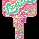 Key Blanks: Key Blank PG2 - Live & Love- Weiser