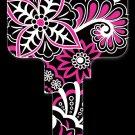 Key Blanks: Key Blank PG8 - Psychedelic Floral- Kwikset