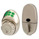 Door Handle Set: Master Lock Model No. DSKP0615D275 Electronic Keypad Deadbolt